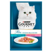 Gourmet Perle Tuna and Shrimp Cat Food 85g x 24