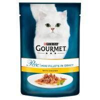Gourmet Perle Mini Chicken Fillets Cat Food 85g x 24