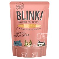 Blink Flaked Ocean Fish Fillets & Roasted Chicken Wet Cat Food