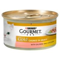 Gourmet Gold Salmon & Chicken in Gravy Cat Food 85g x 12