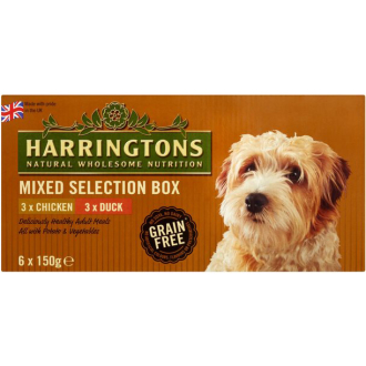 Harringtons Wet Chicken & Duck Mixed Selection Box Dog Food