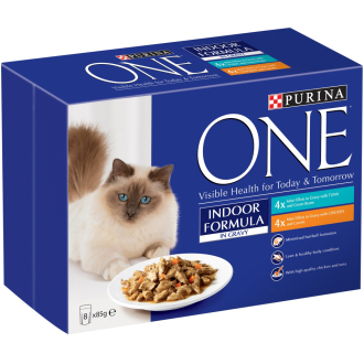 Purina ONE Tuna & Chicken Mini Fillets In Gravy Indoor Adult Cat Food