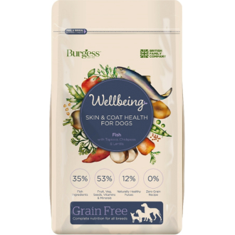 Burgess Wellbeing Skin & Coat Dog Food