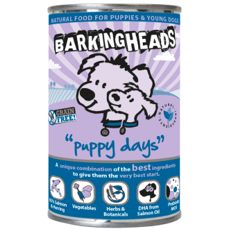 Barking Heads Puppy Days With Salmon Wet Dog Food