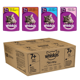 Whiskas Mixed Selection in Jelly Wet Senior 7+ Cat Food Pouch