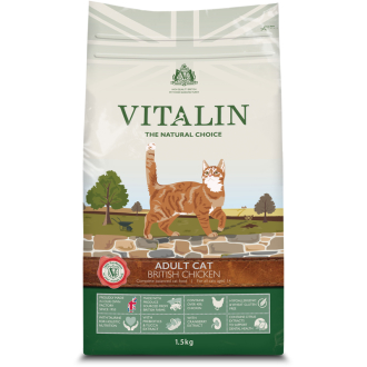 Vitalin Natural Chicken Dry Adult Cat Food