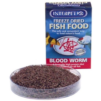 Interpet Blood Red Worm Fish Food