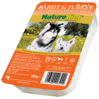 Naturediet Rabbit & Turkey Vegetables & Rice Dog Food