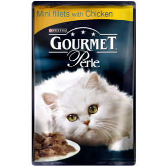 Gourmet Perle Mini fillets with Chicken Cat Food