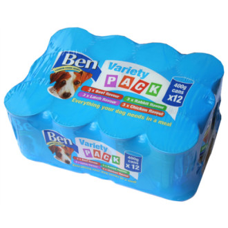 Ben Premium Chunks Variety Pack Dog Food