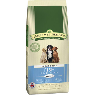 James Wellbeloved Fish & Rice Junior Large Breed Dog Food