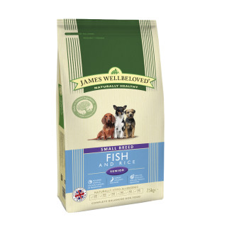 James Wellbeloved Small Breed Fish & Rice Senior Dog Food