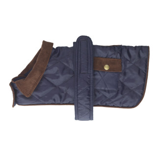 House Of Paws Quilted Navy Dog Rain Coat