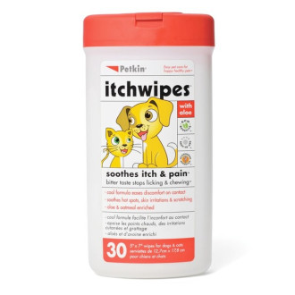 Petkin Itch Wipes for Dogs & Cats