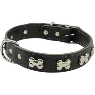 Earthbound Black Bone Dog Collar