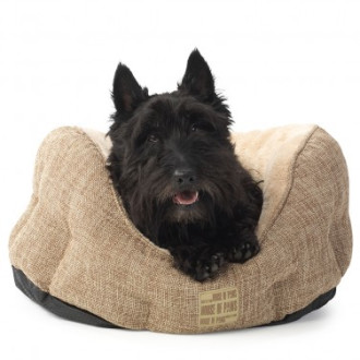 House of Paws Natural Hessian Dog Bed