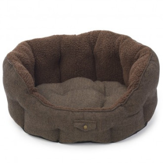 House of Paws Harris Tweed Oval Dog Bed