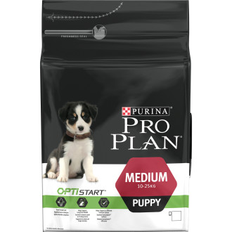 PRO PLAN OPTISTART Chicken & Rice Medium Puppy Food