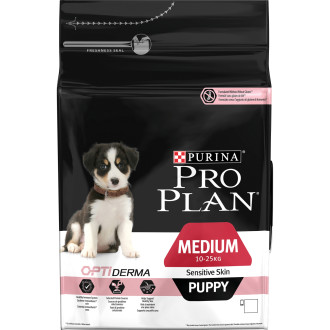 PRO PLAN OPTIDERMA Salmon Sensitive Skin Medium Puppy Food
