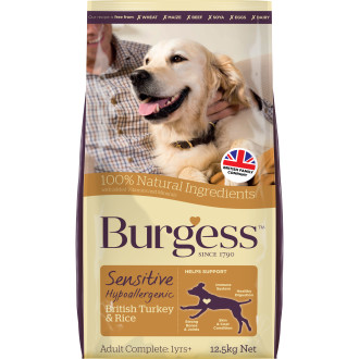 Burgess Complete Sensitive Turkey & Rice Adult Dog Food