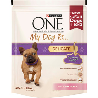 Purina ONE My Dog Is...Delicate Salmon & Rice Small Adult Dog Food