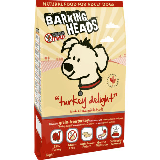 Barking Heads Turkey Delight Grain Free Adult Dog Food