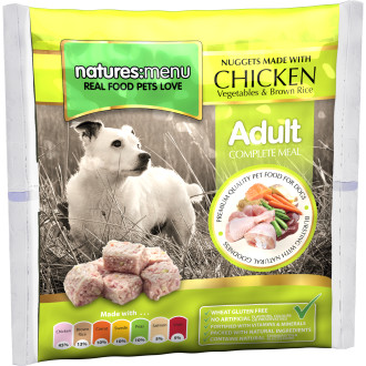 Natures Menu Complete Chicken Nuggets Raw Frozen