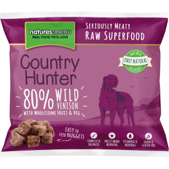 Natures Menu Country Hunter Complete Wild Venison Nuggets Raw Frozen