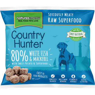 Natures Menu Country Hunter Complete White Fish & Mackerel Nuggets Raw Frozen Dog Food