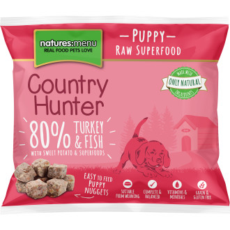 Natures Menu Country Hunter Complete Turkey & Fish Nuggets Raw Frozen Puppy Food