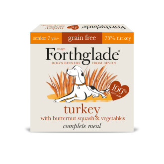 Forthglade Complete Grain Free Turkey & Veg Senior Dog Food