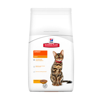 Hills Science Plan Chicken Light Adult Dry Cat Food