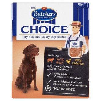 Butchers Choice Beef and Vegetables Adult Dog Food Tray
