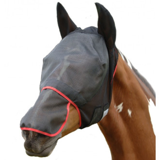 Equilibrium Field Relief Max Fly Mask in Black & Red