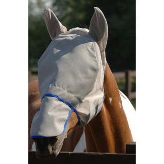 Equilibrium Field Relief Max Fly Mask in Grey & Blue