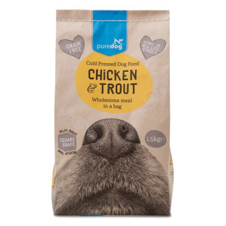 Pure Dog Chicken & Trout Cold Pressed Dog Food