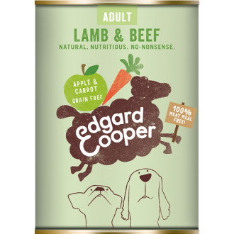 EdgardCooper Lamb & Beef with Apple & Carrot Wet Adult Dog Food