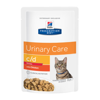 Hills Prescription Diet Feline CD Urinary Stress Pouches