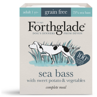 Forthglade Complete Grain Free Sea Bass, Sweet Potato & Veg Adult Dog Food