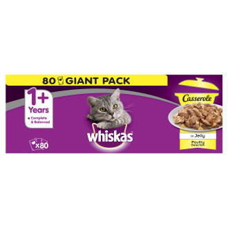Whiskas 1+ Casserole Poultry Selection Adult Cat Food