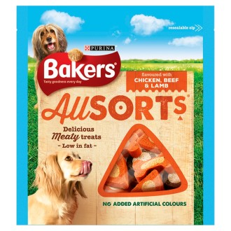 Bakers Allsorts Flavoured with Chicken, Beef & Lamb 98g