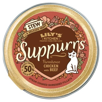 Lilys Kitchen Suppurrs Farmhouse Chicken with Beef Stew Wet Cat Food