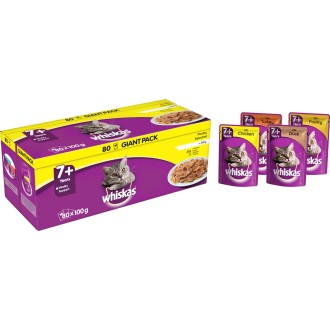 Whiskas 7+ Poultry Selection in Jelly Cat Food