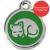 Red Dingo Cat ID Tag Stainless Steel & Enamel Kitten