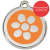 Red Dingo Dog ID Tag Stainless Steel & Enamel Flower