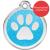 Red Dingo Dog ID Tag Glitter Enamel Pawprint