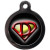 PS Pet Tags Superdog Dog ID Tag