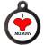 PS Pet Tags I Love Mummy Collar Dog ID Tag