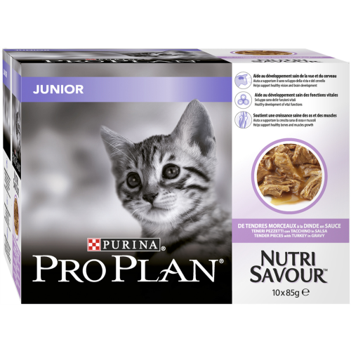 PRO PLAN NUTRISAVOUR Turkey in Gravy Junior Kitten Pouches