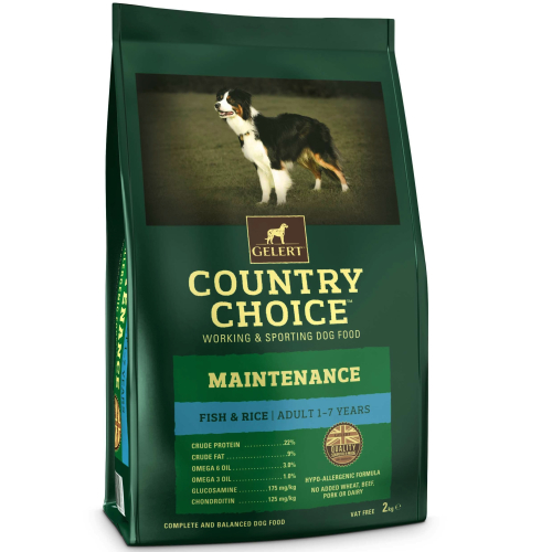 Gelert Country Choice Maintenance Fish & Rice Adult Dog Food